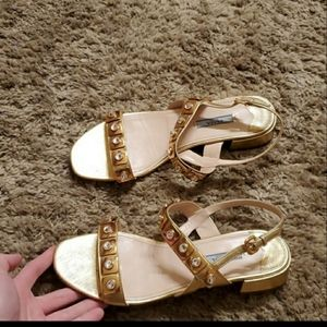 Prada gold shoes size 39 (US 8)